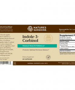 Nature's Sunshine Indole-3-Carbinol Label