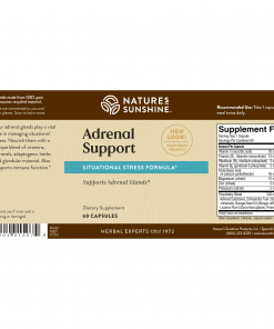 Nature's Sunshine Adrenal Support Label