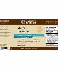 Nature's Sunshine MEN'S FORMULA Label
