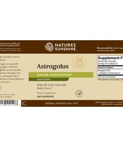 Nature's Sunshine Astragalus Label