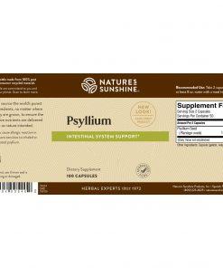 Nature's Sunshine Psyllium Seeds Label