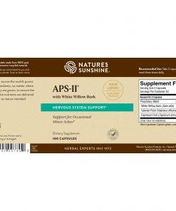 Nature's Sunshine APS-II Label