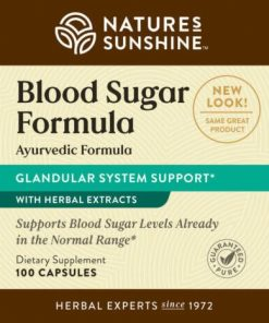 Nature's Sunshine Blood Sugar Formula Label