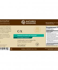 Nature's Sunshine C-X Label