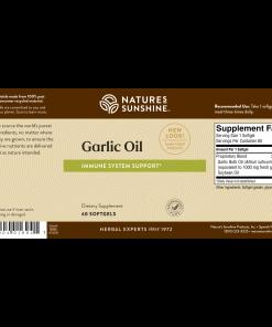 Nature's Sunshine garlic oil label