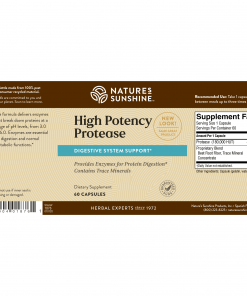 Nature's Sunshine High Potency Protease label