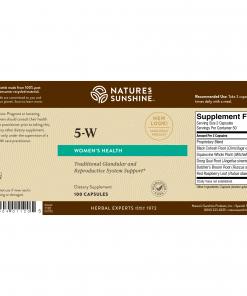 Nature's Sunshine 5-W Label