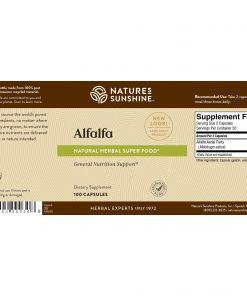 Nature's Sunshine Alfalfa Label
