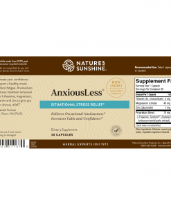 Nature's Sunshine AnxiousLess Label