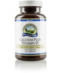 Nature's Sunshine Calcium Plus Vit D Label