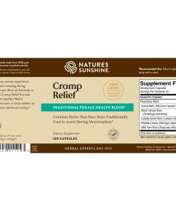 Nature's Sunshine Cramp Relief Label