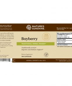Nature's Sunshine Bayberry Label