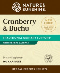 Nature's Sunshine Cranberry & Buchu Label